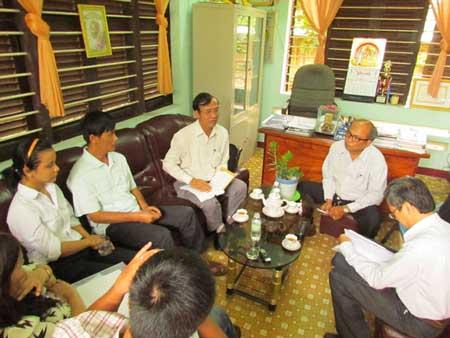 Buổi làm việc giữa gia đình em Th., Ban giám hiệu trường chuyên Lê Quý Đôn và lãnh đạo Sở GDĐT tỉnh Khánh Hòa